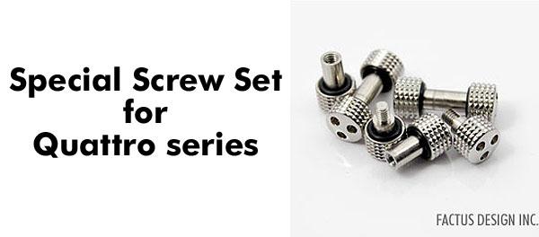 Photo1: Special screw set for Quattro series