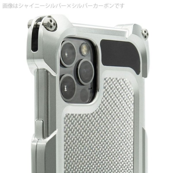 Photo2: Quattro for iPhone12Pro HD - Carbon fiber back panel models
