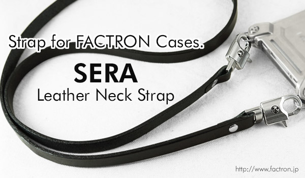 "Photo1: Leather Neck Strap ""SERA"""