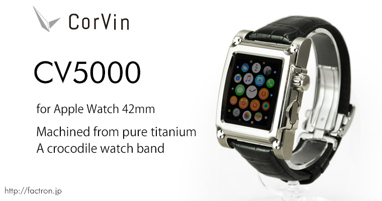 Photo1: Corvin CV 5000 for AppleWatch1 42mm Titanium