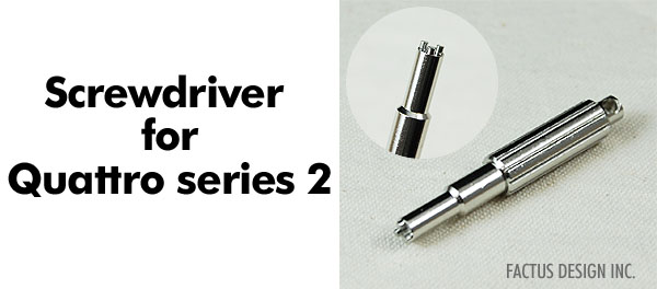 Photo1: The Screwdriver for Quattro series