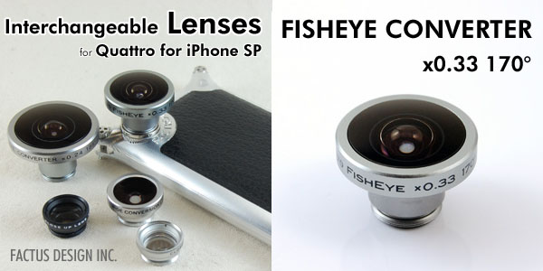 Photo1: FISHEYE CONVERTER x0.33 170°