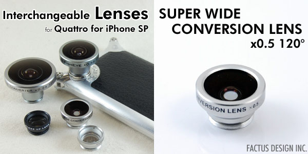 Photo1: SUPER WIDE CONVERSION LENS x0.5 120°